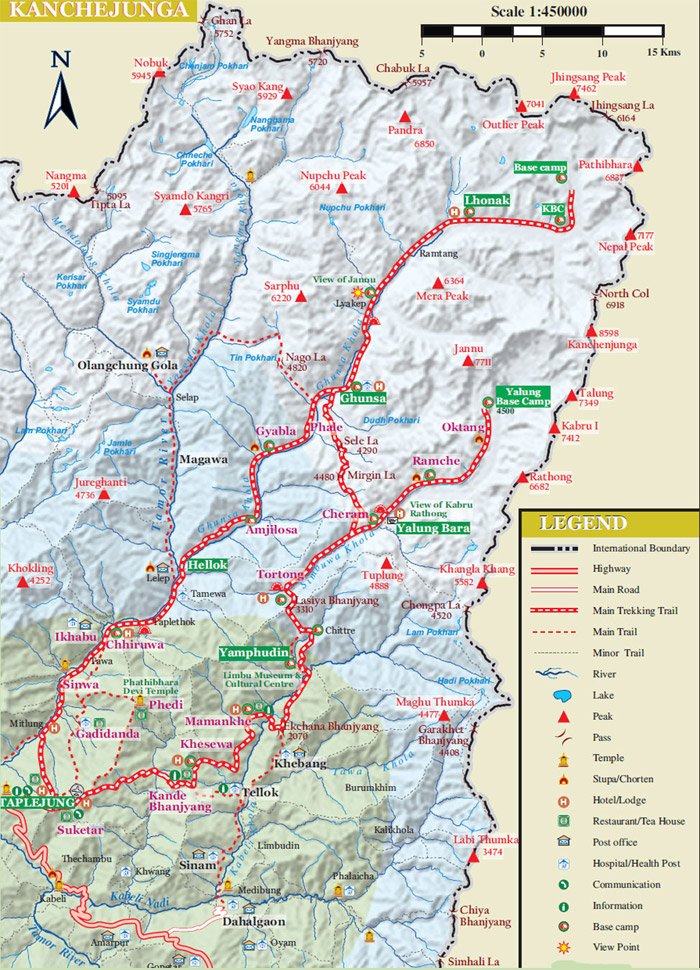 Mt Kanchenjunga Expedition Map